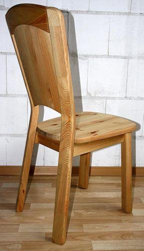 Stuhl Holzstuhl Küchenstuhl Kiefer massiv gelaugt Vollholz Stühle – Bild 4