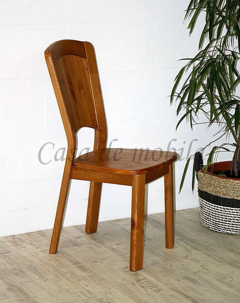 Stuhl mit Holzsitz GULDBORG41x97x58 Kiefer massiv provence lackiert