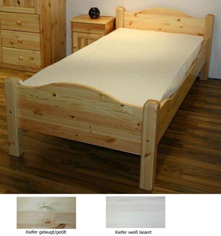Sympathisch Hohes Bett Sammlung Von Massivholz 90x200 Jugendbett Kiefer Fußteil