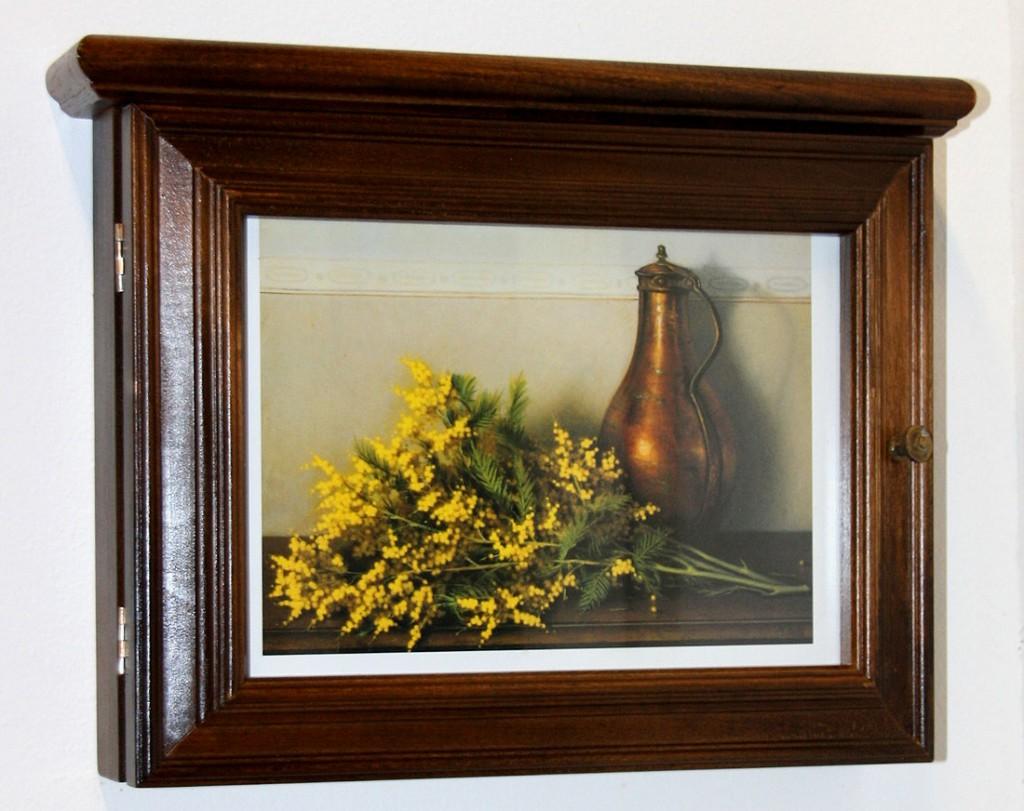schl sselkasten schl sselbox schl sselschrank kolonial massiv holz gelbe blume. Black Bedroom Furniture Sets. Home Design Ideas