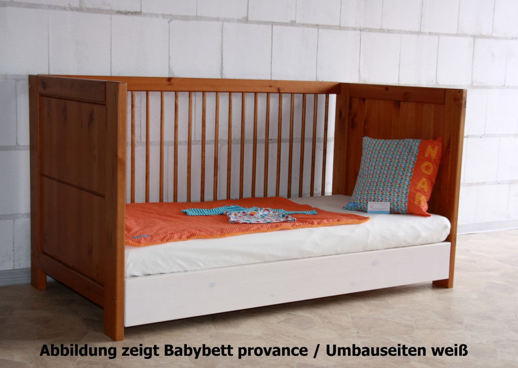 extra bettseiten f r babybett gt214 f r umbau zum. Black Bedroom Furniture Sets. Home Design Ideas