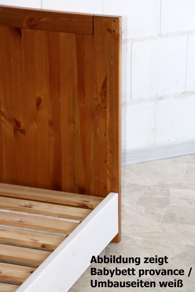 extra bettseiten f r babybett gt214 f r umbau zum juniorbett kiefer massiv. Black Bedroom Furniture Sets. Home Design Ideas