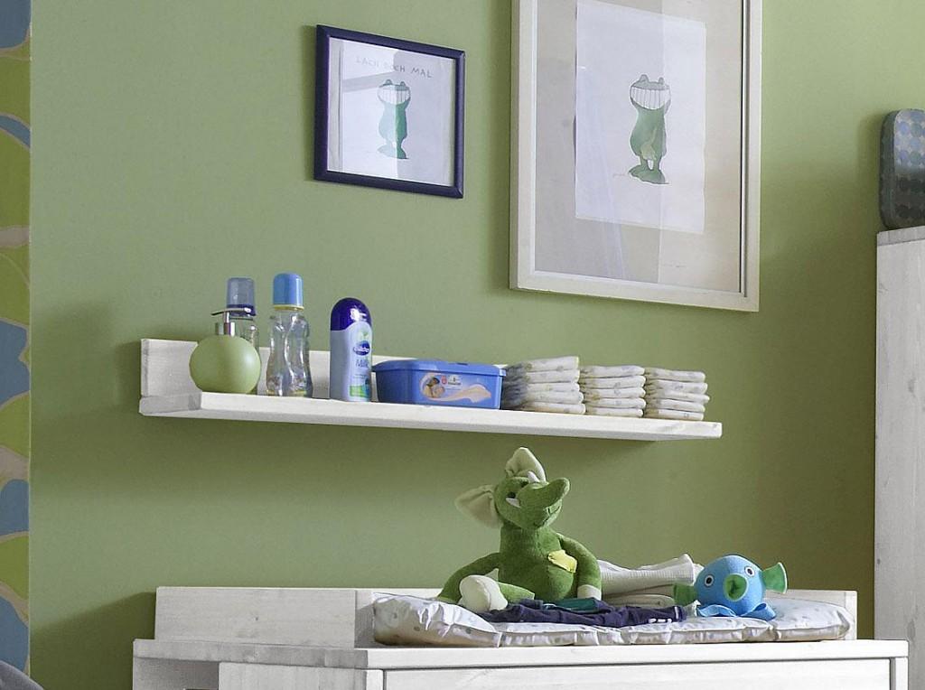 wandboard 100x13x21cm kiefer massiv wei lasiert. Black Bedroom Furniture Sets. Home Design Ideas