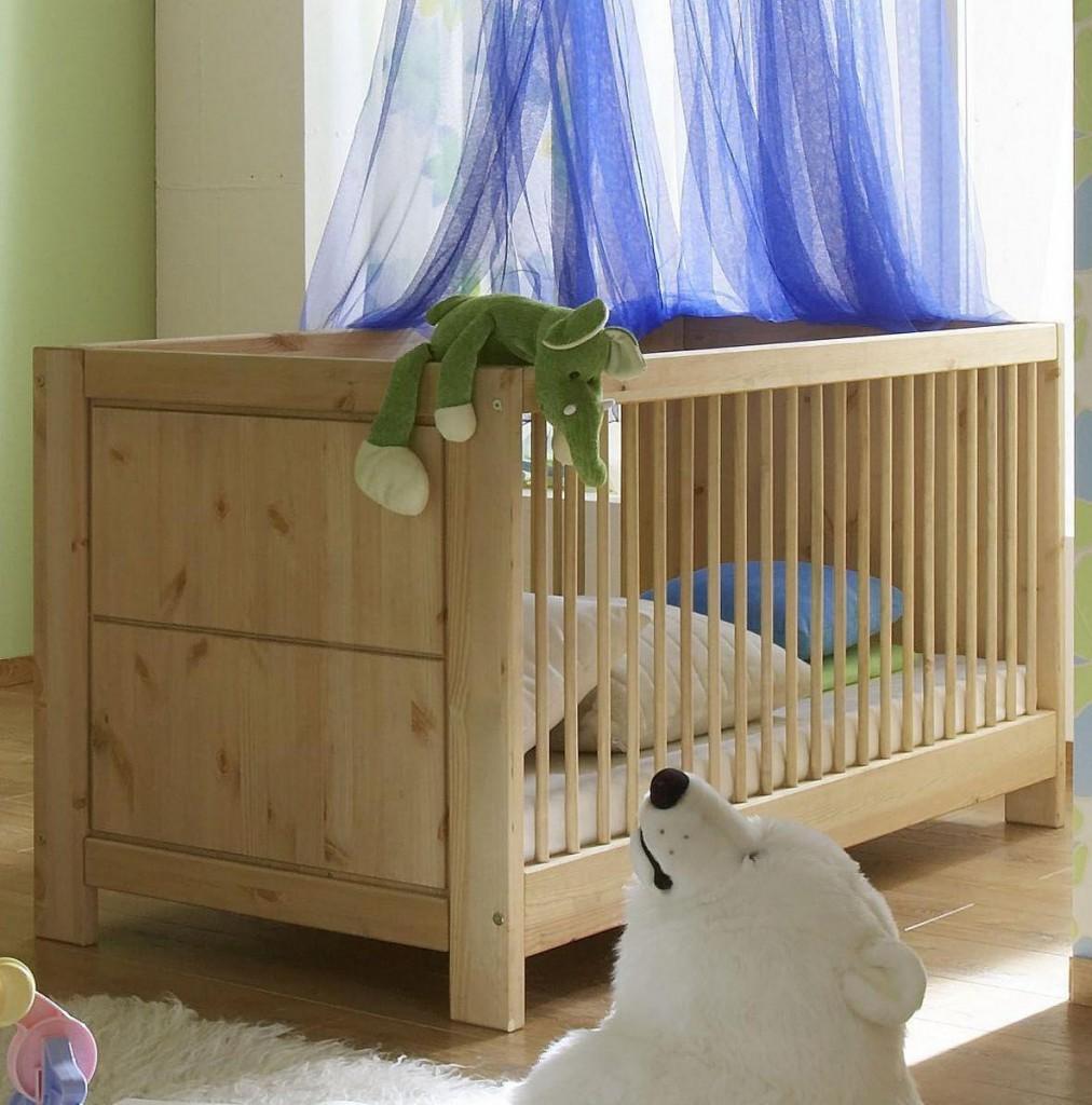 Babyzimmer komplett 6teilig Vollholz Kinderzimmer Kiefer massiv gelaugt geölt – Bild 3