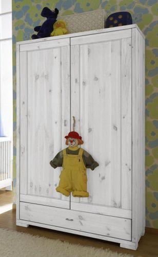 Babyzimmer komplett 6teilig Vollholz Kinderzimmer Kiefer massiv weiß lasiert – Bild 2
