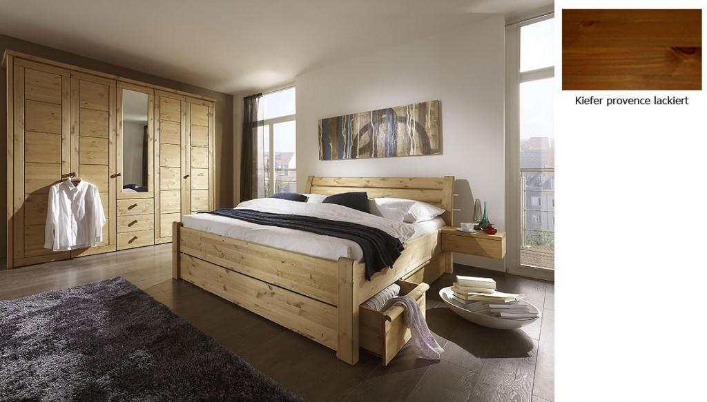 schlafzimmer-set honig guldborg kiefer möbel komplett honig lackiert