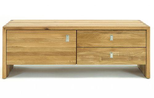 Wohnzimmermöbel-Set 3teilig WILDEICHE massiv Holz – Bild 3