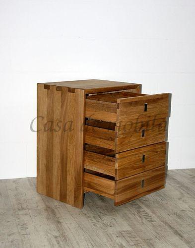 Garderoben-Set WILDEICHE geölt Massivholz Dielenmöbel 5teilig massiv Holz – Bild 4