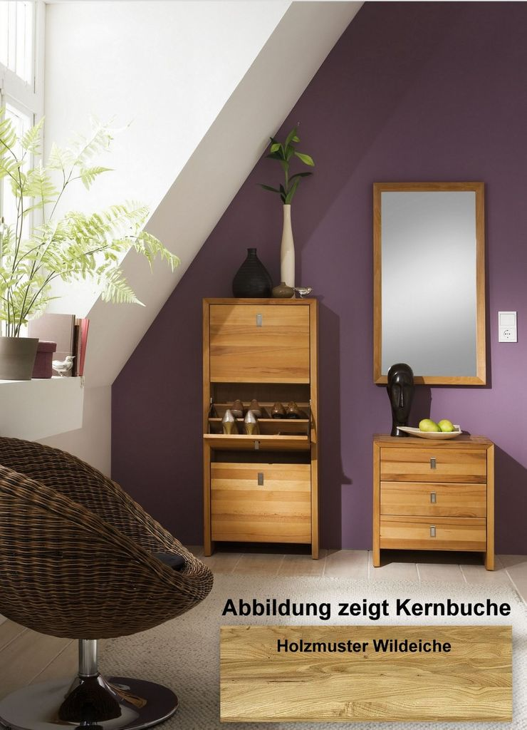 massivholz set dielenm bel 3teilig wildeiche massiv holz. Black Bedroom Furniture Sets. Home Design Ideas