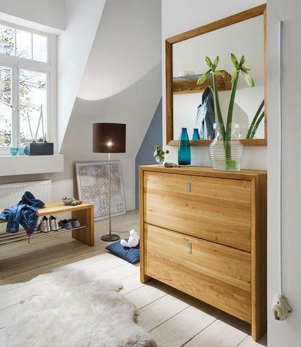 Massivholz WILDEICHE Garderobe 3tlg. Dielenmöbel massiv Holz – Bild 1