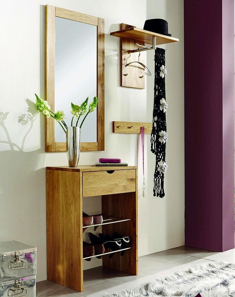 garderoben set dielenm bel wildeiche massiv ge lt. Black Bedroom Furniture Sets. Home Design Ideas