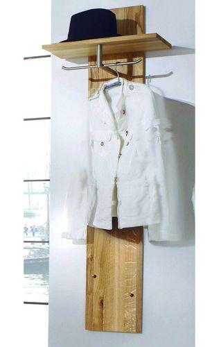 Flurmöbel Dielenmöbel Garderoben-Set Garderobe Wildeiche massiv Holz geölt – Bild 3
