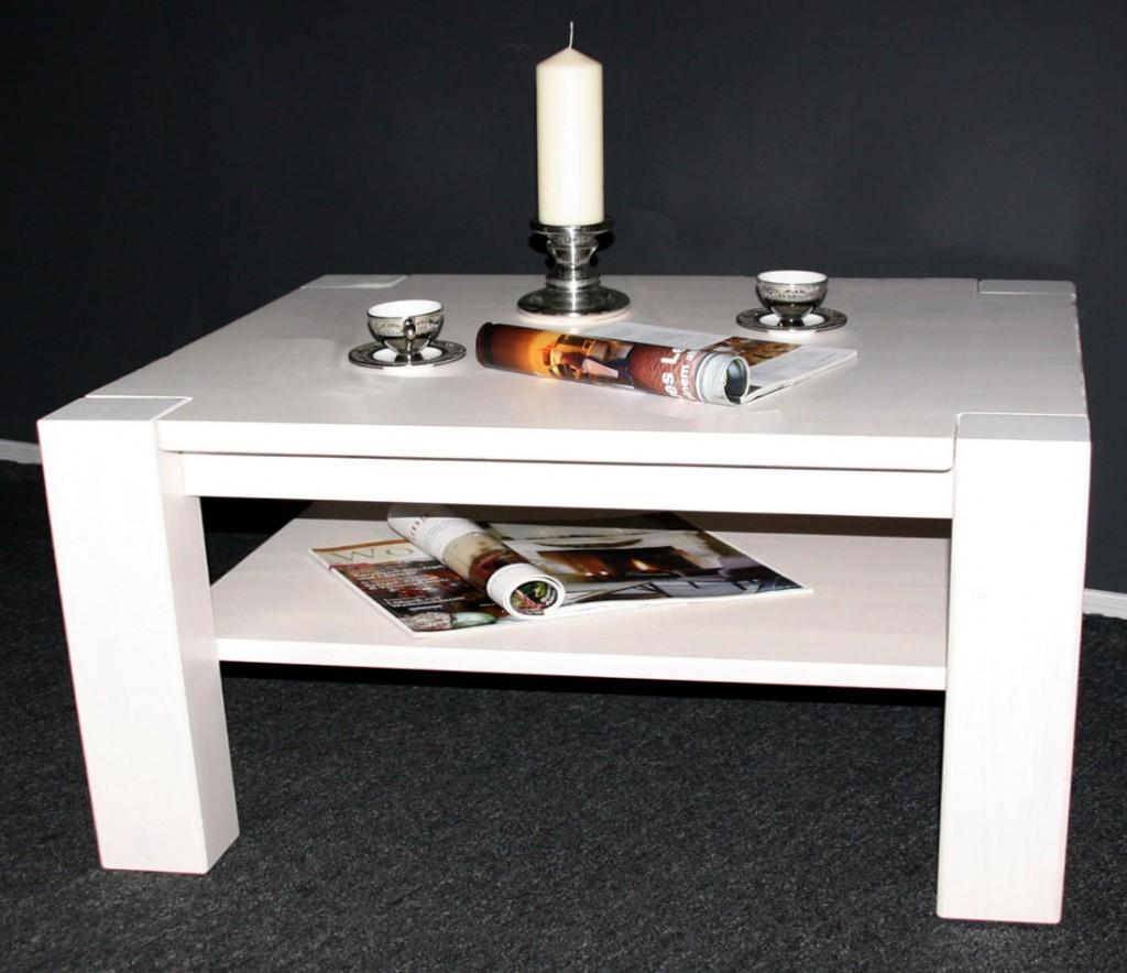 couchtisch 120x48x74cm mit ablageboden kiefer massiv. Black Bedroom Furniture Sets. Home Design Ideas