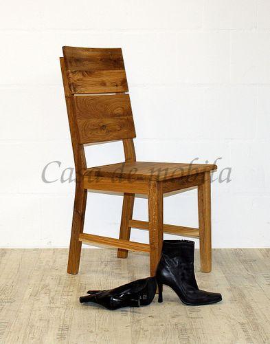 Massivholz Stuhl Holzstuhl Wildeiche geölt massiv Esszimmerstuhl Holz – Bild 2