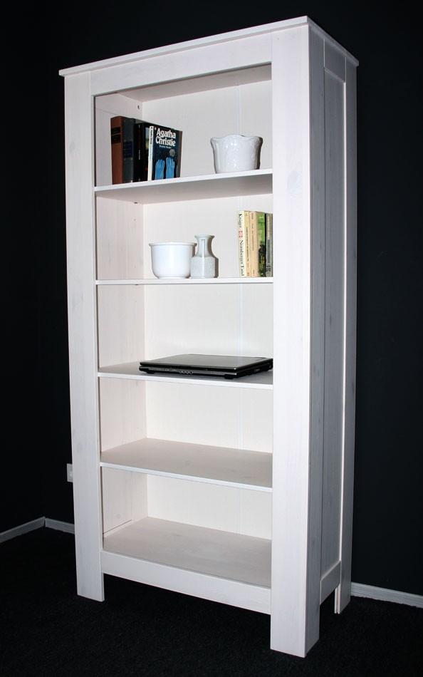 massivholz standregal regal b cherregal kinderregal wei. Black Bedroom Furniture Sets. Home Design Ideas