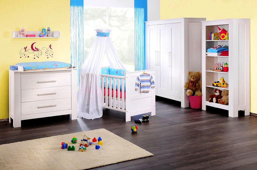 Babyzimmer komplett set  Babyzimmer 6teilig, Kiefer massiv weiß gewachst