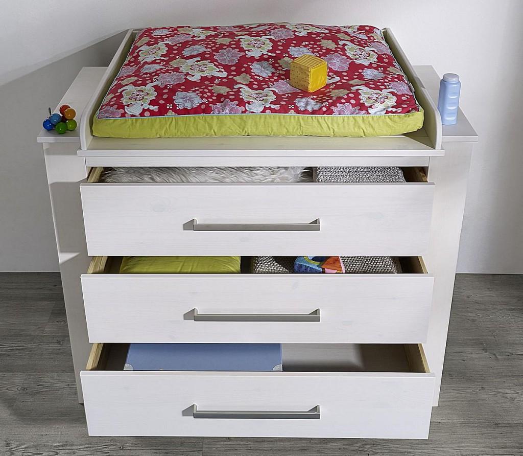 Spar-Set Babyzimmer 4teilig Kinderzimmer weiß gewachst Vollholz Kiefer massiv – Bild 5