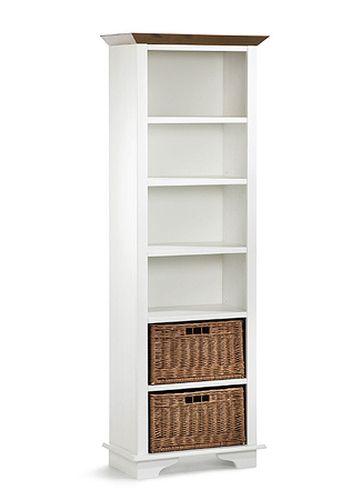 Standregal Regal Bücherregal weiß honig Kiefer massiv Holz – Bild 1