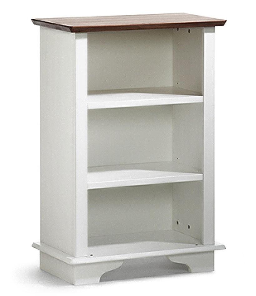 Standregal 65x97x36cm, 2 Einlegeböden, Kiefer massiv 2farbig weiß ...