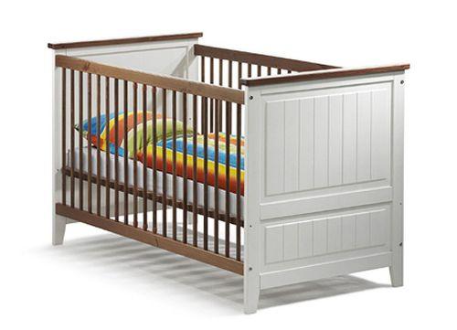 Babybett Kinderbett Juniorbett weiß honig Kiefer massiv Holz – Bild 1