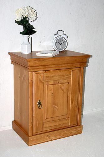 Doppelbett Bett Holzbett Nachtisch Vollholz Kiefer massiv Holz honig – Bild 5