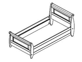 bett 100x200 kiefer massiv wei gewachst. Black Bedroom Furniture Sets. Home Design Ideas