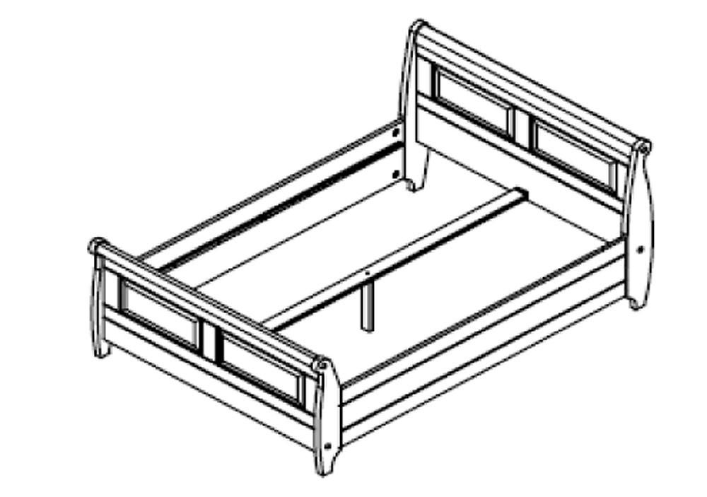 Massiv Holzbett 140x200 Bett Doppelbett Kiefer massiv Holz weiß honig – Bild 2