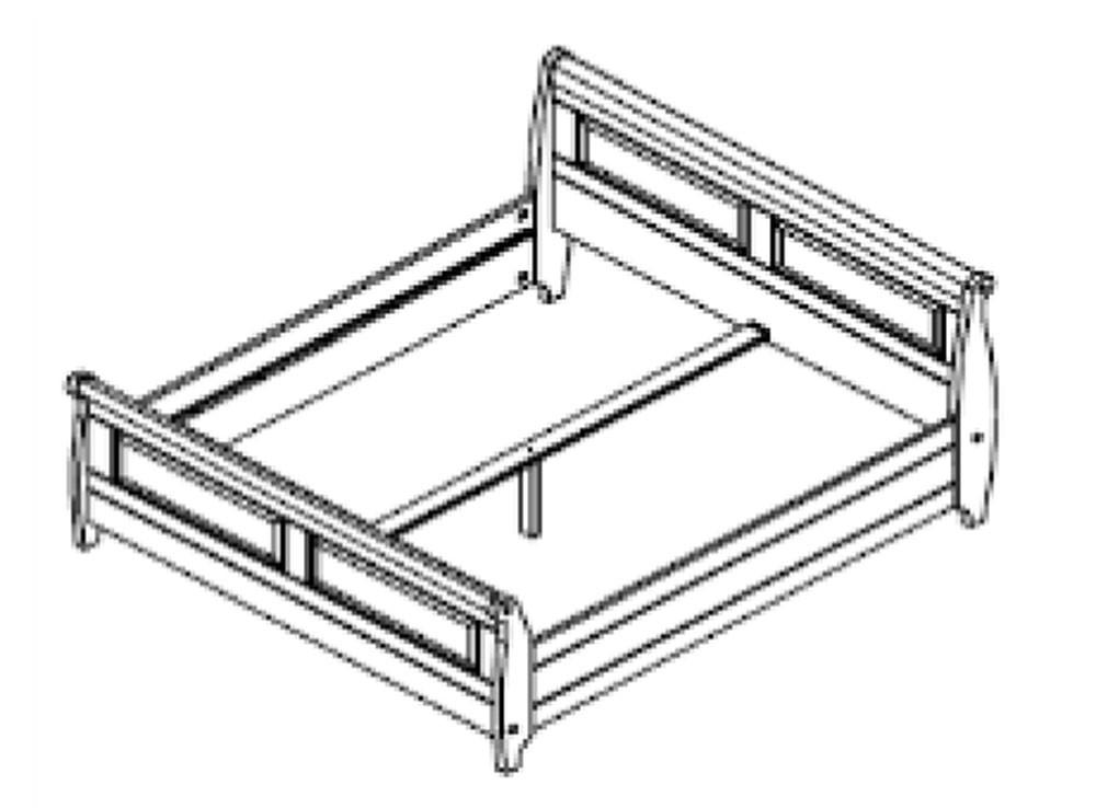 bett 180x200 kiefer massiv. Black Bedroom Furniture Sets. Home Design Ideas