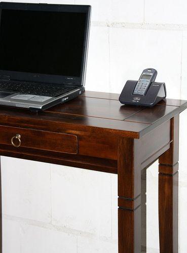 Konsolentisch Wandtisch Beistelltisch Vollholz massiv braun nussbaum Farbe – Bild 4