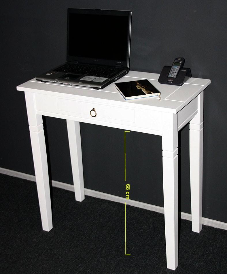 konsolentisch 80x80x40cm 1 schublade pappel massiv wei lackiert. Black Bedroom Furniture Sets. Home Design Ideas