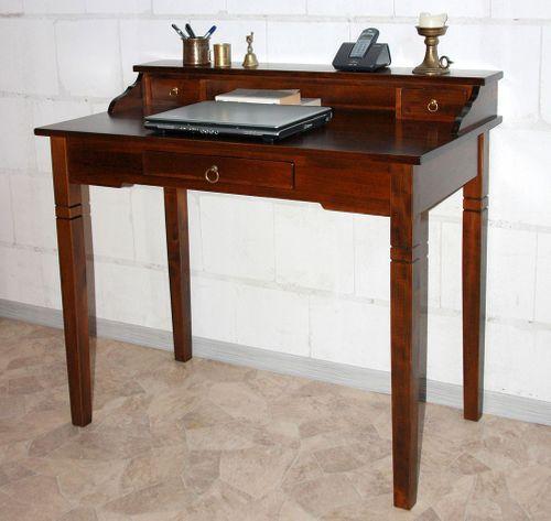 Schreibtisch Sekretär Vollholz massiv braun nussbaum Farbe – Bild 9