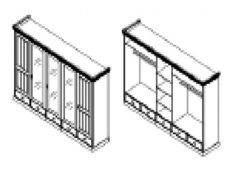 Schlafzimmer-Set komplett 180x200 Vollholz Kiefer massiv 2farbig weiß honig – Bild 7