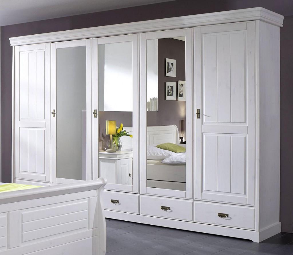 schlafzimmer set 4teilig kiefer massiv wei gewachst. Black Bedroom Furniture Sets. Home Design Ideas