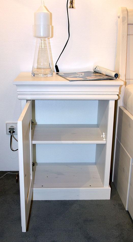 Schlafzimmer-Set komplett 180x200 Vollholz Kiefer massiv weiß – Bild 4
