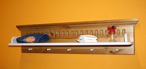 Wandboard weiß antik Wandregal Hängeregal Kiefer massiv Holz 2farbig – Bild 4