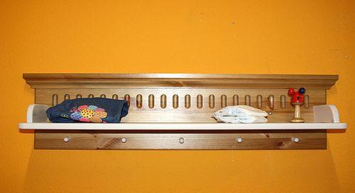 Wandboard weiß antik Wandregal Hängeregal Kiefer massiv Holz 2farbig – Bild 5