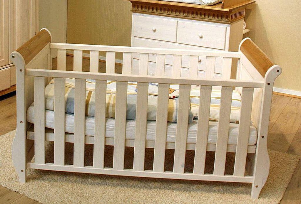 babybett 70x140 kiefer massiv 2farbig wei antik. Black Bedroom Furniture Sets. Home Design Ideas