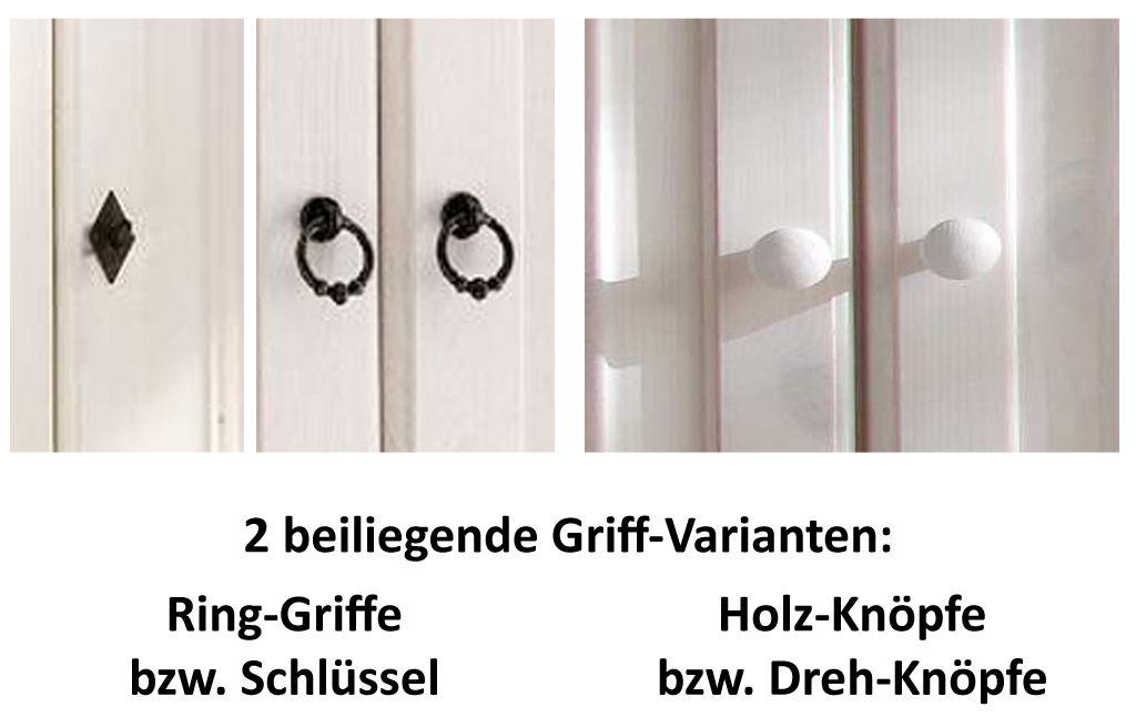 Wickelkommode weiß antik 107cm Wickeltisch Kiefer massiv Holz 2farbig – Bild 7