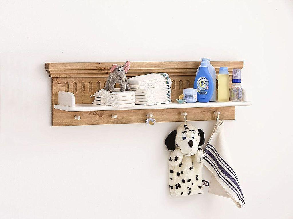 Babyzimmer-Set 6teilig Babymöbel Kiefer massiv Holz weiß antik – Bild 7