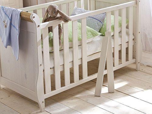 Babyzimmer-Set 6teilig Babymöbel Kiefer massiv Holz weiß antik – Bild 3