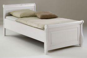 Bett 100x200, Kiefer massiv weiß