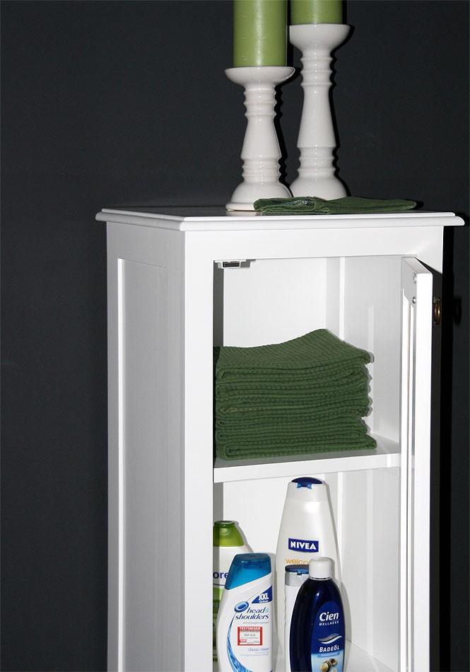 vitrine 43x100x37cm 1 glast r 1 schublade pappel massiv wei lackiert. Black Bedroom Furniture Sets. Home Design Ideas