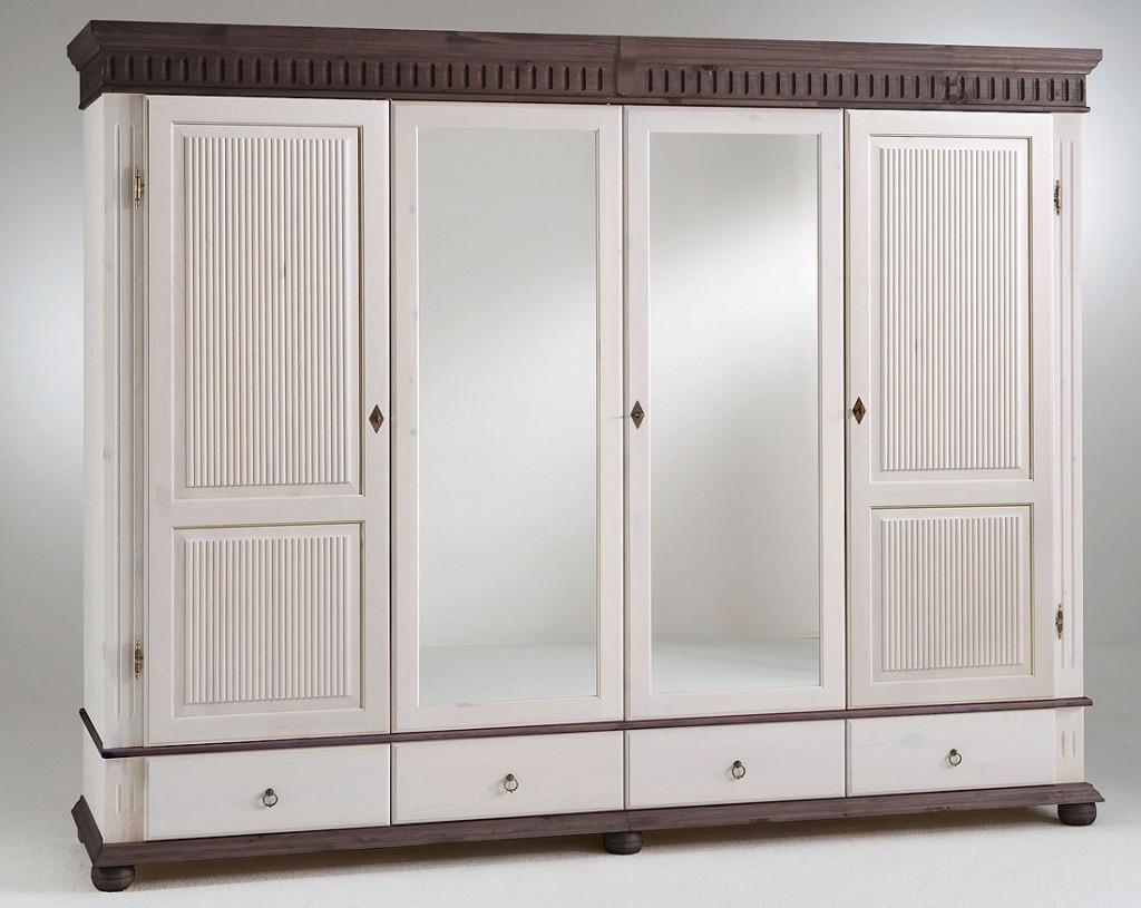 kleiderschrank 4t rig 252x199x62cm 2 spiegelt ren. Black Bedroom Furniture Sets. Home Design Ideas