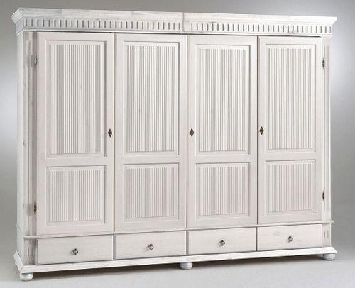 Kleiderschrank 5türig XL weiß Kiefer massiv Poarta – Bild 4