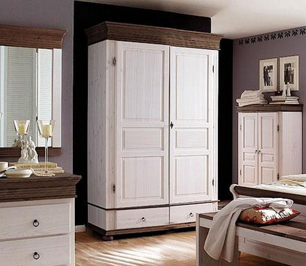 kleiderschrank 139x200x63cm 2 t ren 2 schubladen kiefer massiv. Black Bedroom Furniture Sets. Home Design Ideas