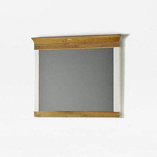 Wäschekommode mit Wandspiegel 2farbig weiß antik Vollholz Kommode Kiefer massiv – Bild 3