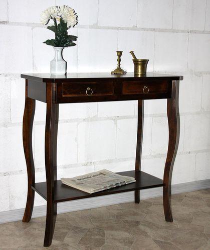 Wandtisch Telefontisch Konsolentisch Vollholz massiv braun nussbaum Farbe – Bild 1