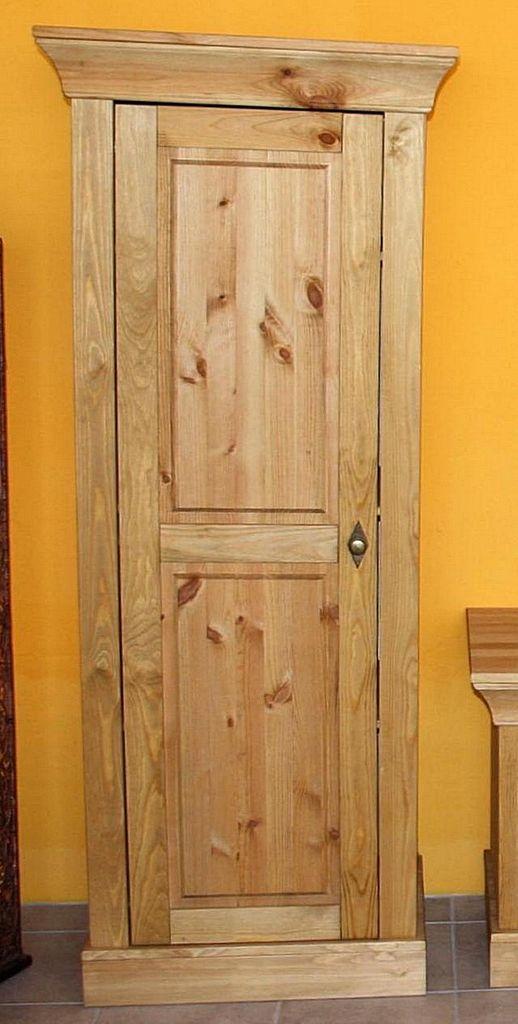 wohnzimmerschrank 65x163x45cm 1 holzt r kiefer massiv gelaugt ge lt. Black Bedroom Furniture Sets. Home Design Ideas
