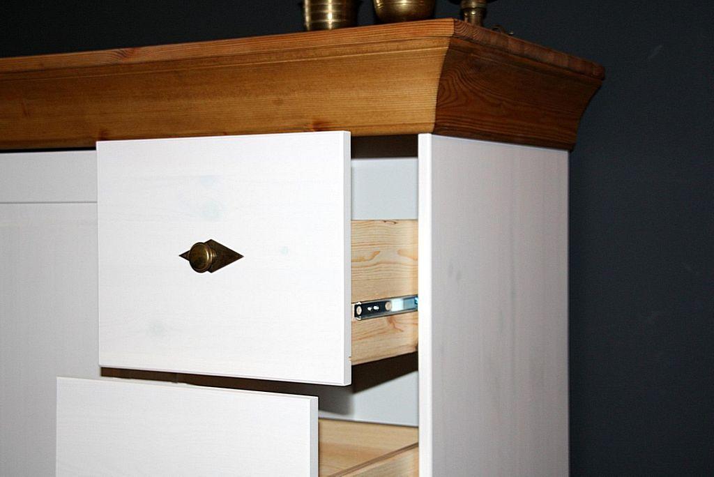kommode 88x117x45cm 1 t r 4 schubladen kiefer massiv. Black Bedroom Furniture Sets. Home Design Ideas