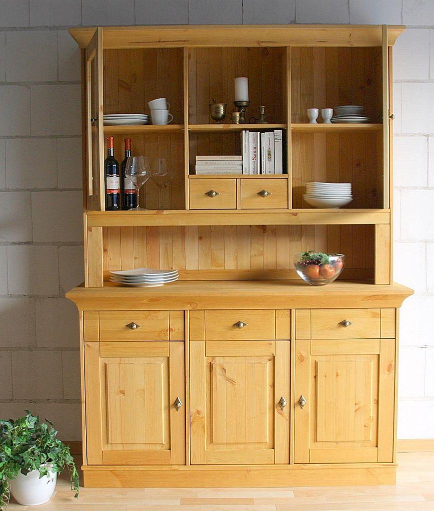 buffetschrank 143x197x45cm 3 holzt ren 2 glast ren. Black Bedroom Furniture Sets. Home Design Ideas